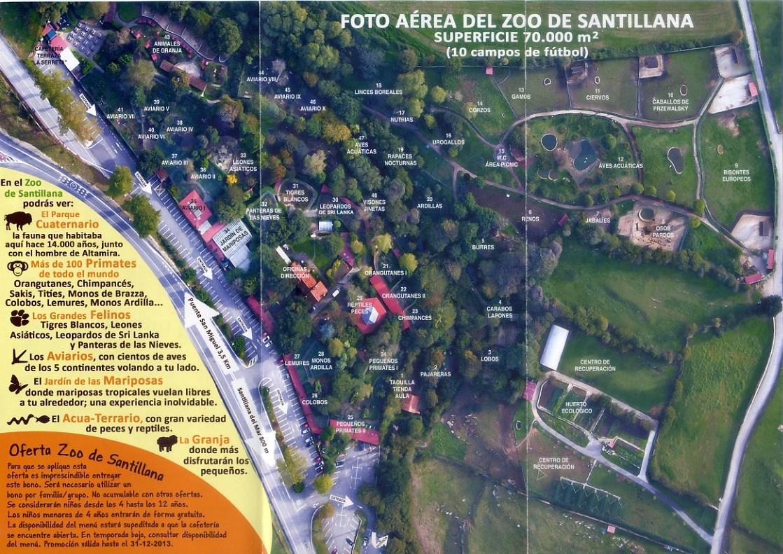 Mapa del Zoo Santillana del Mar