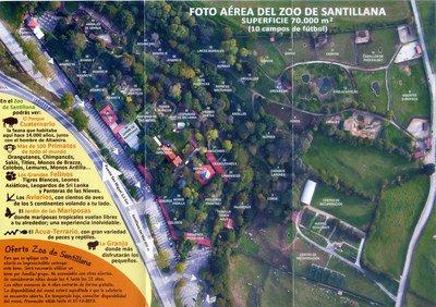 Mapa Zoo Santillana del Mar