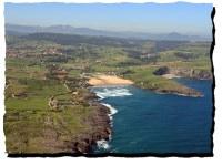 Vista aérea desde la playa de Cuberris
