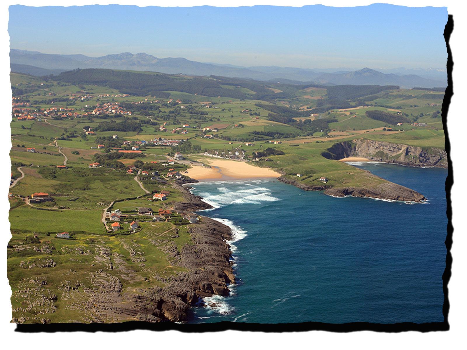Vista aérea playa cuberris